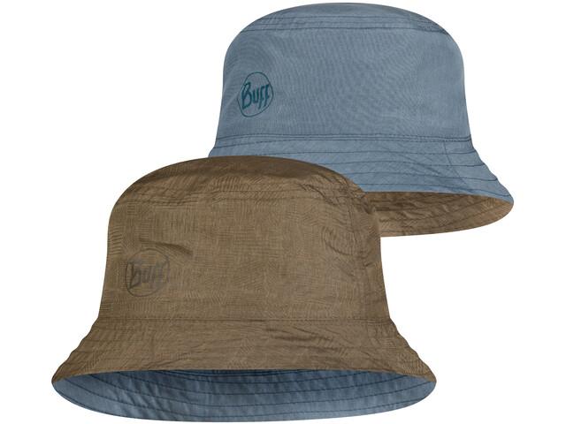 Buff Travel Bucket Hat, Oliva/azul